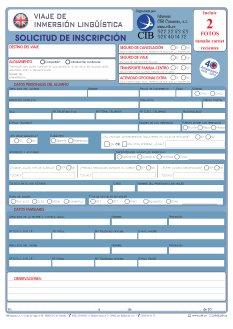 Inscripción Inmersión lingüística en inglés CIB