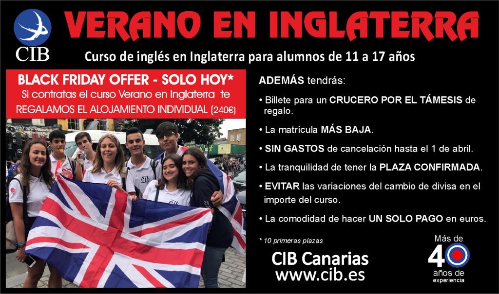 Inmersión lingüística - Verano en Inglaterra CIB - Oferta Black Friday