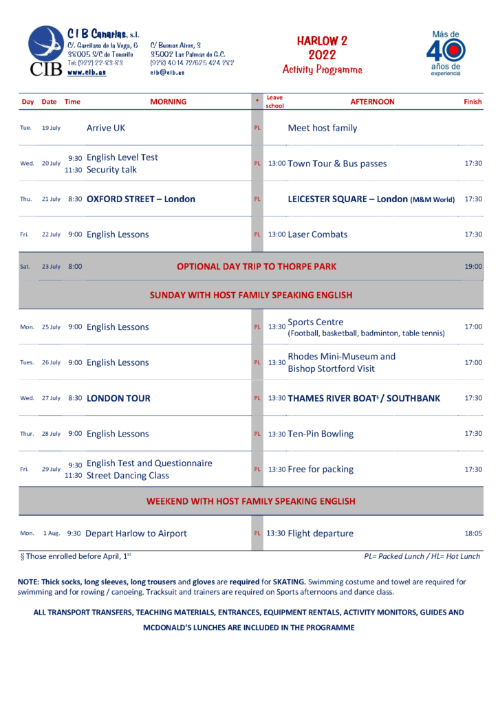 Inmersión lingüística - Verano en Inglaterra CIB - Inglés en Inglaterra